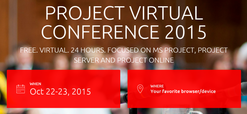 The Project Virtual Conference 2015 #ProjVConf