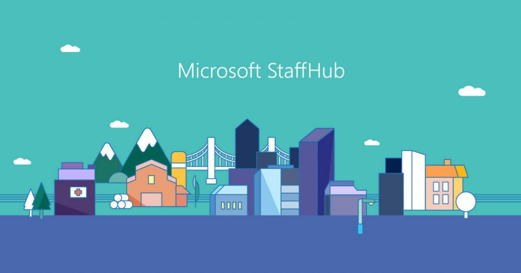 the starting screen of Staffhub