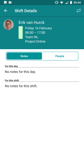 StaffHub shift details in mobile app