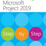 The cover of the Step by Step book for Microsoft Project. Written by Cindy Lewis.
